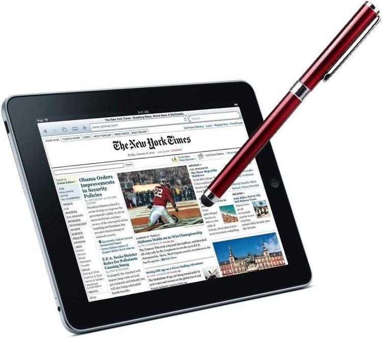 3 Pack - Silver Red Black Writing Pen with Ink for Microsoft Surface Go! Tek Styz PRO Custom Stylus